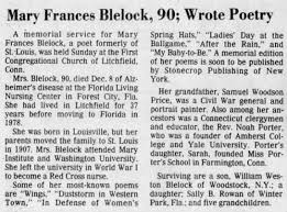 Mary Frances Price Blelock - death - Newspapers.com