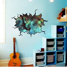 Vwaq Cosmic Wall Decal Outer Space Sticker Cracked Wall Decal Space