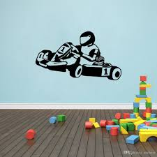 Wall Decal Wall Stickers For Kids Rooms Modern Toity Go Kart Karting Racing Wall Room Decor Art Vinyl Stickers For Walls Art Stickers For Walls Decoration From Qiansuning666 17 58 Dhgate Com