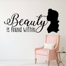 Beauty And The Beast Belle Quote Beauty Found Within Vinyl Wall Decal Customvinyldecor Com