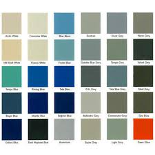 shade cards for synthetic enamel paints