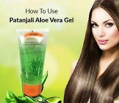 use patanjali aloe vera gel for skin