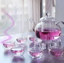 china clear tea set free