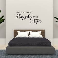 Wall Decal Quote And They Lived Happily Ever After Home Sticker Decor C129 Walmart Com Walmart Com