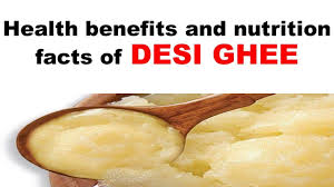 nutrition facts of desi ghee