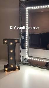 diy vanity mirror i used any mirror