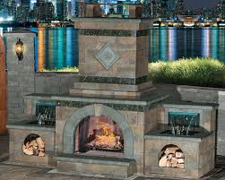 fully assembled outdoor fireplace