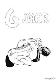Cars Verjaardag Kleurplaat 085255 Kleurplaat