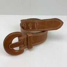 omega women s light brown leather belt