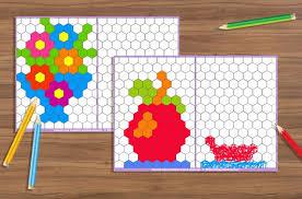 Схемы мозаики для развития у детей мелкой моторики, внимания ...