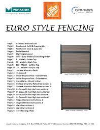 Https Www Manualshelf Com Manual Veranda Ef 63401 Installation Guide Html