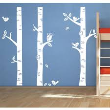 4 Size Great Big Birch Tree Wall Decals Wall Decal Owl Bird Told Nursery Project Baby Nursery Vinyl Wallpaper For Home Wallpapers For Birch Tree Wall Decaltree Wall Decal Aliexpress