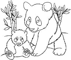 Tranh tô màu hai mẹ con gấu trúc « in hình này