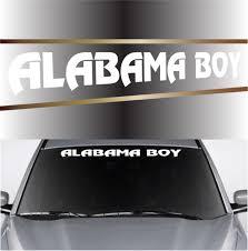 Alabama Boy Custom Windshield Banner Decals Topchoicedecals