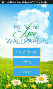 free app my name live wallpaper