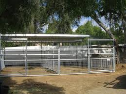Billet Barns 12 X24 Shade Over 2 12 X24 Stalls Diy Horse Barn Cattle Horse Fencing