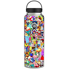 Skin Decal For Hydro Flask 40 Oz Wide Mouth Sticker Collage Sticker Pack 647358197886 Ebay