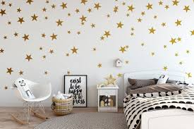 Gold Stars Wall Decal For Nursery Decor Kids Wall Decals Gold Star Confetti Gold Star Wall Decals Kids Wall Decals Star Wall Decals