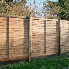 1828x1828mm 6 Brown Pressure Treated Lap Fence Panel Lawsons