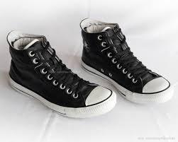 black leather converse all stars