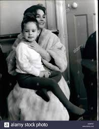 Apr. 04, 1960 - Tracey - Daughter Of Jean Simmons Has Her First Stock Photo  - Alamy