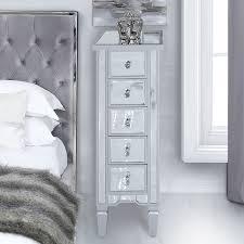 5 drawer slim tallboy cabinet chest