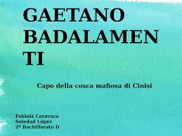 Calaméo - Gaetano Badalamenti (1)