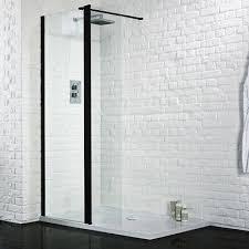wet room black shower enclosure screen