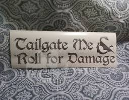 D D Car Tailgate Roll Dungeons Dragon 7 Vinyl Decal Sticker Auto Gaming Dnd Rpg Ebay