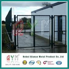 China Pvc Coated Welded Wire Mesh Iron Gate And Fence China Fencing And Gate Metal Fence Panel