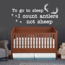 I Count Antlers Not Sheep Wall Decal To Go To Sleep I Count Etsy