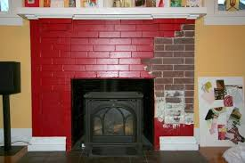 painting red brick fireplace in 2018