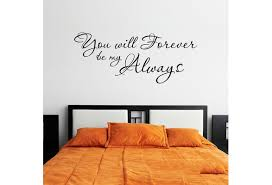 You Will Forever Be My Always Vinyl Wall Decal Quote Nursery Room Art Interesting Fashion Sticker Decals Wish