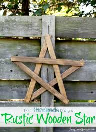 rustic wooden star busybeingjennifer