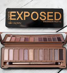 the exposed eyeshadow palettes the