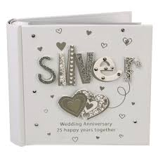 wedding anniversary gifts 25th wedding
