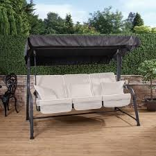 3 seater reclining swing seat with