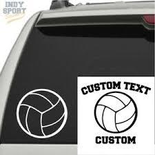Volleyball Silhouette Vinyl Sports Car Decal Sticker Ebay