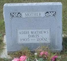 Addie Mathews Watson Davis (1905-2002) - Find A Grave Memorial
