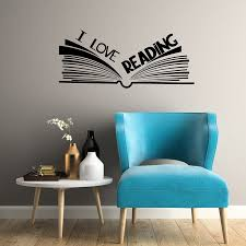 Reading Is Dreaming With Open Eyes Kids Wall Art Quote Vinyl Decal Playroom Kids