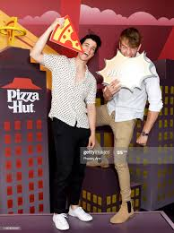 Adam DiMarco and Jake Manley of 'The Order' attend the Pizza Hut... News  Photo - Getty Images