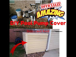 Diy Pool Pump Cover Ac Cover Youtube