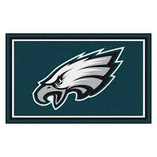 Fanmats Philadelphia Eagles 4 Ft X 6 Ft Area Rug 6600 The Home Depot