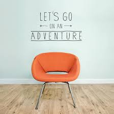 Let S Go On An Adventure Wall Decal Quote