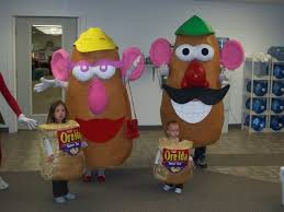 mrs potato head and their tater tots