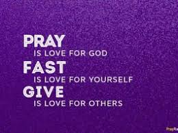 Image result for responsibility and prayer lent