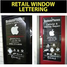 Window Lettering Decals Santa Ana Ca Property Management Signs