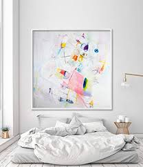 Amazon Com Kelly Green Painting Modern Abstract Art Large Canvas Print Kids Room Decor Handmade
