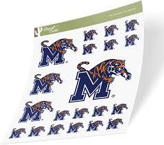 Amazon Com University Of Memphis Tigers Ncaa Sticker Vinyl Decal Laptop Water Bottle Car Scrapbook Sheet Type 3 1 Arts Crafts Sewing