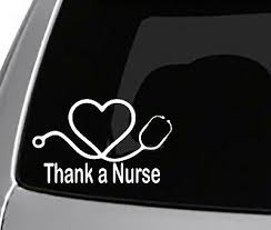 Thank A Nurse Decal Car Truck Window Toolbox Driving Sticker Usa Turbo Ebay